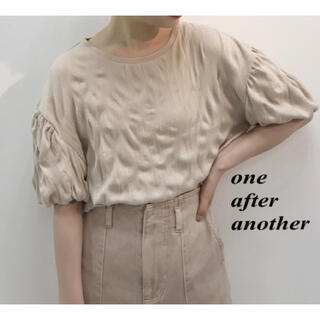 one after another NICE CLAUP - 新品 one after another クリンクルTOP