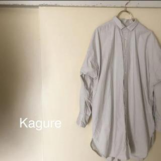 URBAN RESEARCH - KAGURE ギャザースリット入りシャツチュニック 美品