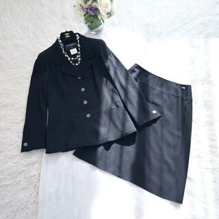 CHANEL - ★CHANEL★極美品★ブラックフォーマル★上質ウール★フレアー スーツ