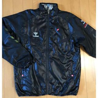 ヒュンメル(hummel)の大人も着れる160  hummel  サーモライトジャケット アルミ熱反射 黒(ジャケット/上着)