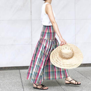 IENA - IENA マドラスチェック マキシスカート