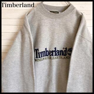 Timberland - 【激レア】ティンバーランド ★ビック刺繍ロゴ 90s 古着 ゆるダボ グレー色