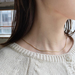 TODAYFUL - Silver925,18kgp_Ines thin necklace