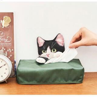 フェリシモ(FELISSIMO)のフェリシモ 猫部 ティッシュカバー いたずら子猫のティッシュカバー(ティッシュボックス)