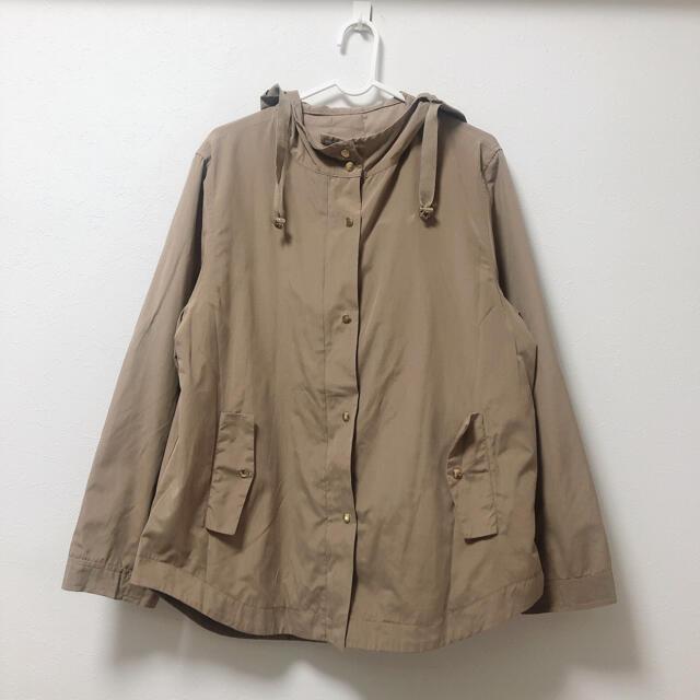 【美品】LLサイズ/フード付きカジュアルジャンパー レディースのジャケット/アウター(その他)の商品写真