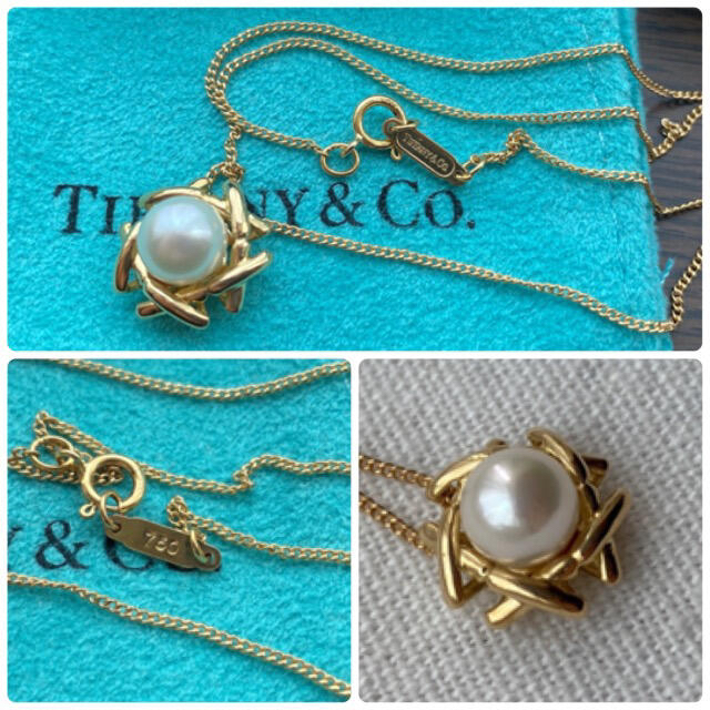 Tiffany & Co.(ティファニー)のティファニー K18 パール ネックレス  イエローゴールド YG 750 希少 レディースのアクセサリー(ネックレス)の商品写真