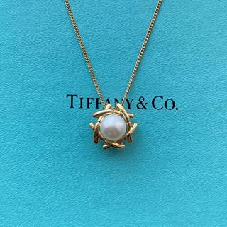 Tiffany & Co. - ティファニー K18 パール ネックレス  イエローゴールド YG 750 希少