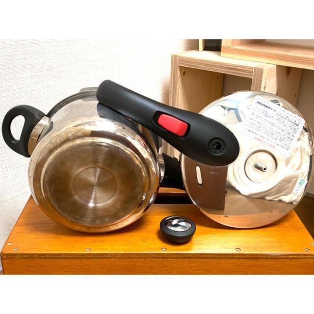 片手圧力鍋 &『 忙しい人のための圧力鍋レシピ 』 インテリア/住まい/日用品のキッチン/食器(鍋/フライパン)の商品写真