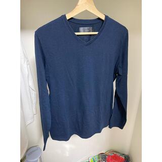 ダブルジェーケー(wjk)のwjk カットソー VネックロンT ネイビー Mサイズ(Tシャツ/カットソー(七分/長袖))