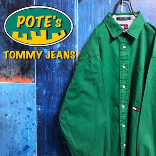 TOMMY HILFIGER - 【トミージーンズ】フラッグ刺繍ロゴ・ロゴタグチノシャツ 90s