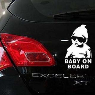 超安値!赤ちゃん乗ってます『BABY ON BOAD』車ステッカー 1枚(車外アクセサリ)