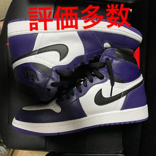 ナイキ(NIKE)のnike air jordan1 court purple(スニーカー)