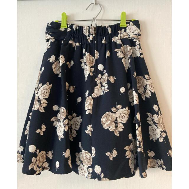 MAJESTIC LEGON(マジェスティックレゴン)の花柄フレアスカート 花柄スカート レディースのスカート(ひざ丈スカート)の商品写真