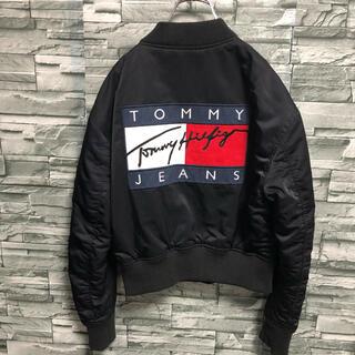 TOMMY HILFIGER - 美品 Tommy jeans トミージーンズ MA-1 ブルゾン