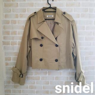 snidel - 【本日削除/最終値下げ】snidel  ショート丈トレンチコート 19AW