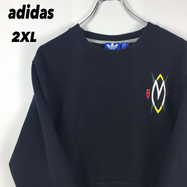 adidas(アディダス)の古着 90s adidas アディダス スウェット オーバーサイズ  刺繍ロゴ メンズのトップス(スウェット)の商品写真