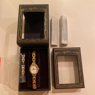 ANA機内販売限定品 agete オーバル腕時計 稼働中