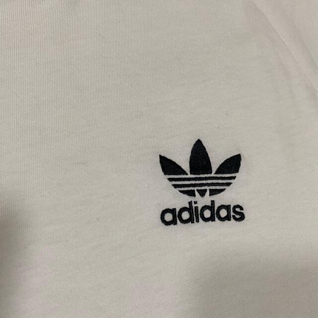 adidas(アディダス)のアディダス リンガーTシャツ ヴィンテージ  adidas 古着 メンズのトップス(Tシャツ/カットソー(半袖/袖なし))の商品写真