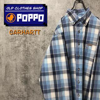 carhartt - カーハート☆レザーロゴ入りポケットチェックシャツ