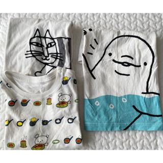 UNIQLO - 【3点セット】100 Tシャツ 白系