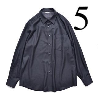 AURALEE 20AW スーパーライトウール シャツ ブラック 5 オーラリー