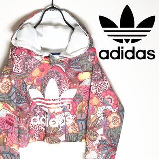 adidas - adidas アディダス パーカー フローラル 花柄 花束模様 スポーツMIX