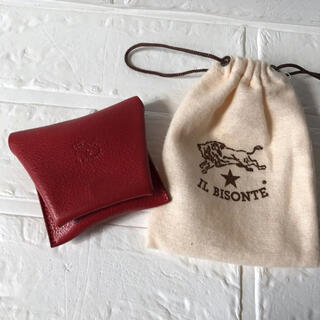 イルビゾンテ(IL BISONTE)のIL BISONTE  イルビゾンテ コインケース 赤色 財布 コンパクト(コインケース)