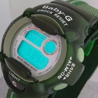 ベビージー(Baby-G)のBaby-G BGX-111 カスタム染色グリーン💚(腕時計)