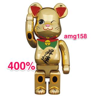 MEDICOM TOY - BE@RBRICK 招き猫 金メッキ 昇運 弐 400%
