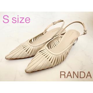 RANDA - ランダ RANDA クリアヒール レザーストラップ パンプス/S 22.5cm