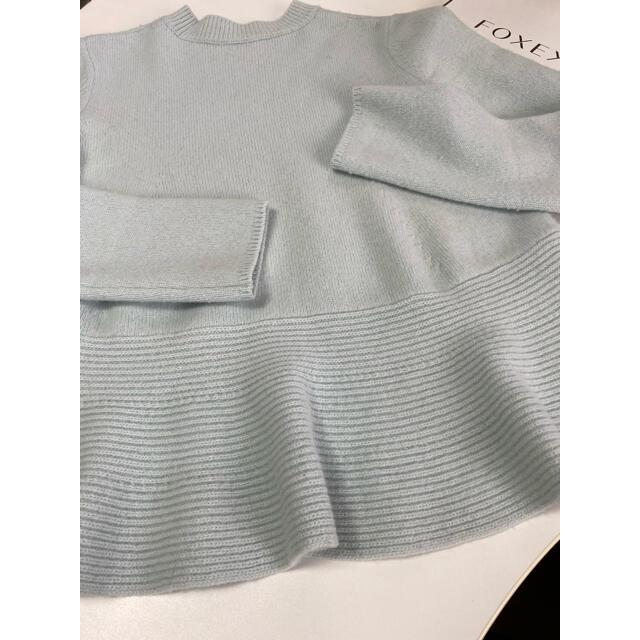 FOXEY(フォクシー)の✨フォクシーニューヨーク カシミヤ ペプラムセーター 40 レディースのトップス(ニット/セーター)の商品写真