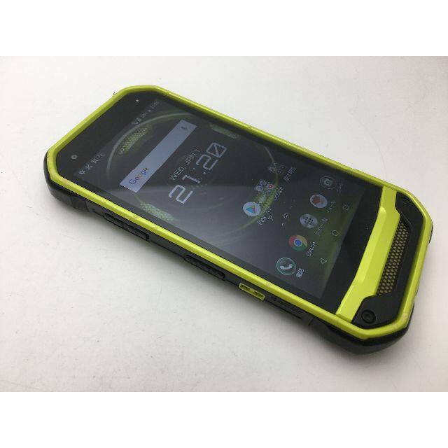 京セラ(キョウセラ)のSIMフリー良品au京セラ TORQUE G03 KYV41 グリーン 91 スマホ/家電/カメラのスマートフォン/携帯電話(スマートフォン本体)の商品写真