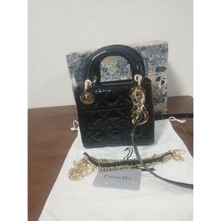 Christian Dior - 美品レディディオール ブラック ミディアム