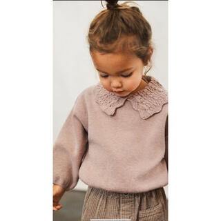 ZARA KIDS - 新品未使用 タグ付き クロシェ編み襟付きセーター 110cm