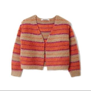 TOGA - perverze Stripe mohair wide cardigan