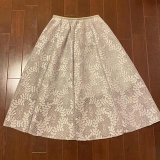 fifth - 美品 fifth フィフス ロングスカート ひざ丈スカート 総レース 刺繍