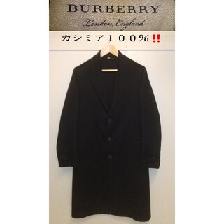 BURBERRY - 超お得‼️ BURBERRY カシミア100% チェスターコート 黒色 2019
