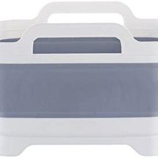 折りたたみソフト洗い桶 取っ手付 排水口 収納便利)(その他)