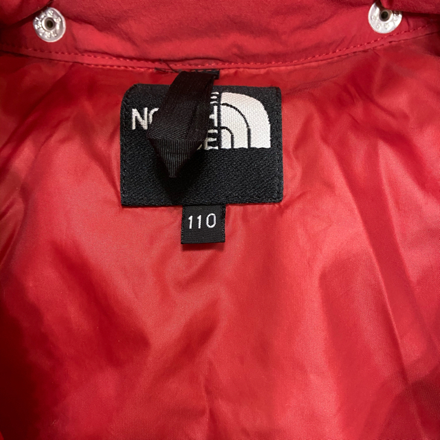 THE NORTH FACE(ザノースフェイス)のThe North Face キッズ ダウン 赤 110 キッズ/ベビー/マタニティのキッズ服男の子用(90cm~)(ジャケット/上着)の商品写真