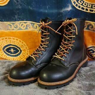 レッドウィング(REDWING)の◆REDWING レッドウィング アメリカ製 ロガーブーツ ブラック◆(ブーツ)