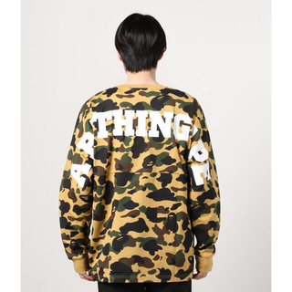 A BATHING APE - 1ST CAMO RELAXED FIT L/S TEE M