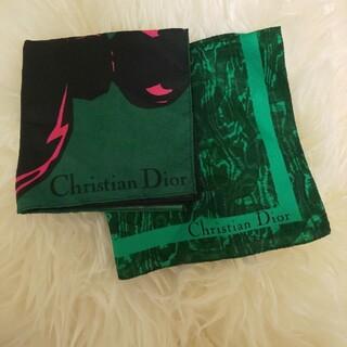 クリスチャンディオール(Christian Dior)のChristian Dior ハンカチーフ? 未使用品 2枚セット(ハンカチ)
