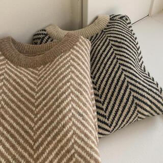 herringbone Knit ブラック