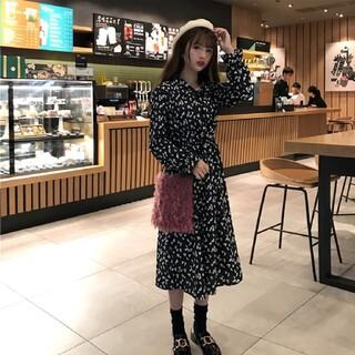 GRL - 韓国ファッション 長袖ワンピース フラワーワンピース 春物 即日発送