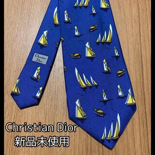 クリスチャンディオール(Christian Dior)の【新品未使用】Christian Dior ネクタイ ヨット柄(ネクタイ)