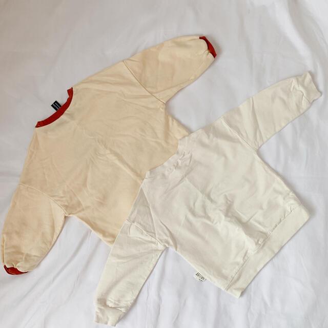 韓国子供服 2点set キッズ/ベビー/マタニティのキッズ服女の子用(90cm~)(Tシャツ/カットソー)の商品写真