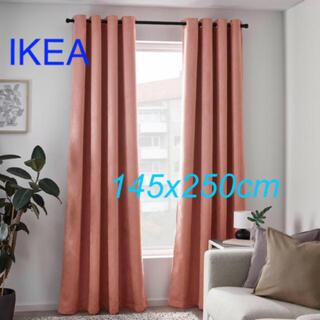 イケア(IKEA)のイケア IKEA 遮光カーテン1組, ライトピンク【新品 未使用】(カーテン)