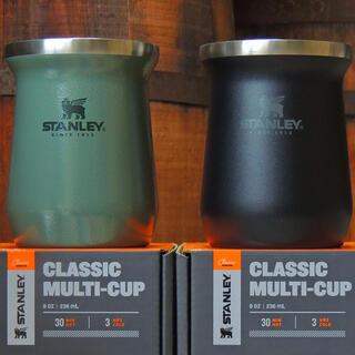 スタンレー(Stanley)のスタンレークラシック真空タンブラー0.23Lグリーン&マットブラック2点セット(食器)