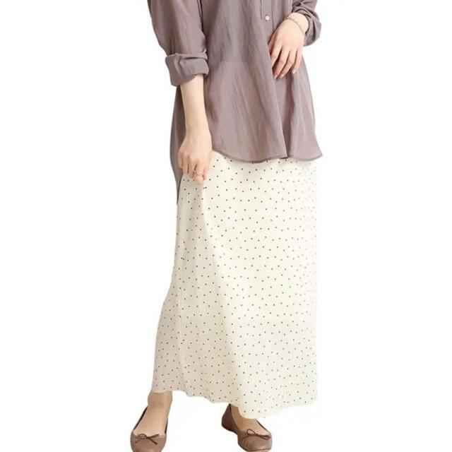 IENA(イエナ)のフロントボタンプリントスカート  レディースのスカート(ロングスカート)の商品写真