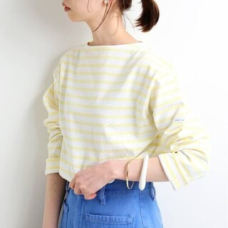 IENA - 【SAINT JAMES 】別注 OUESSANT ボーダーカットソー 新品
